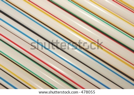 Multicoloured Drinking Straws  -  - VERY Soft Focus at 100%