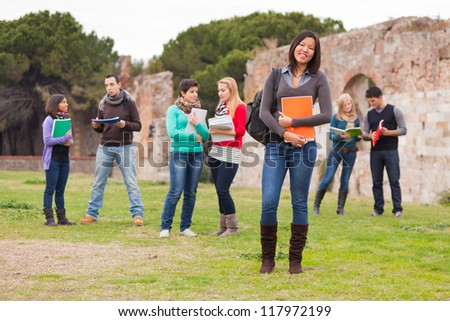 Multicultural College Students - stock photo