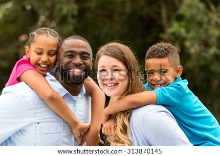 Multicultural family - stock photo