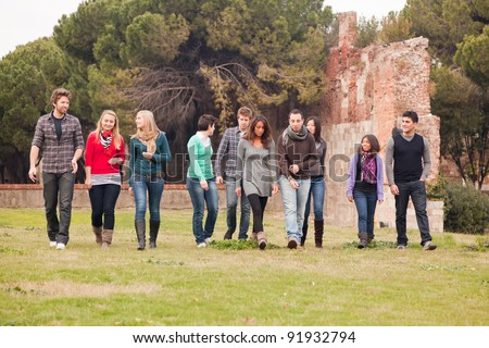 Multicultural Group of People Images, Stock Photos ...  Multicultural People Talking Together