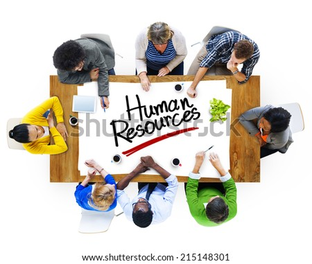 Multiethnic Group of People Discussing About Human Resources - stock photo