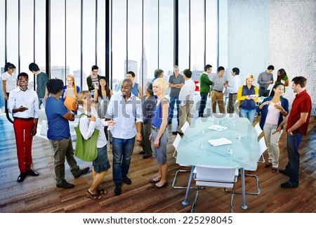 Multiethnic Group of People Meeting in the Office - stock photo