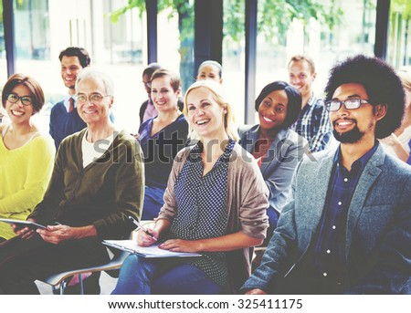 Multiethnic Group Seminar Training Boardroom Concept - stock photo