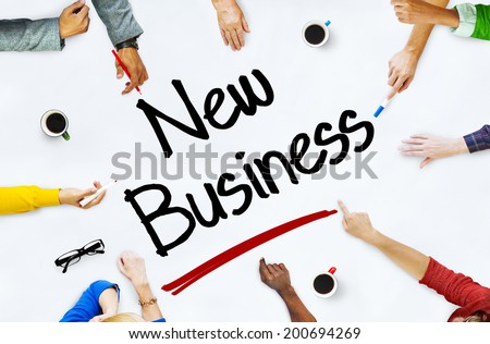Multiethnic People Discussing About New Business - stock photo