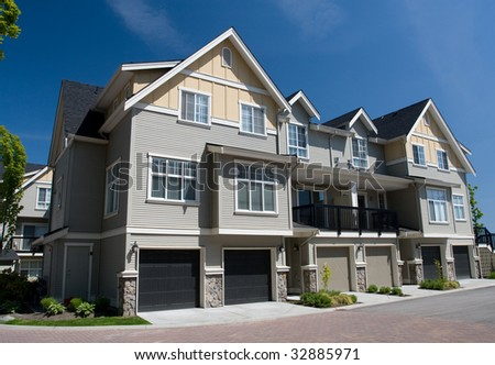 Multifamily Homes - stock photo