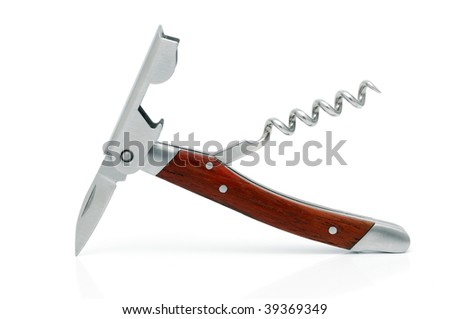 Multifunction knife with corkscrew and opener