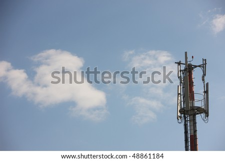 multifunctional antenna with a blue sky