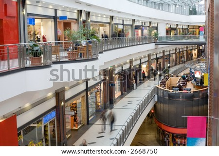 multilevel shopping mall_4 - stock photo