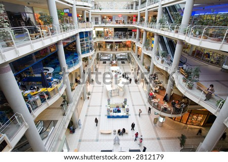 multilevel shopping mall_5 - stock photo
