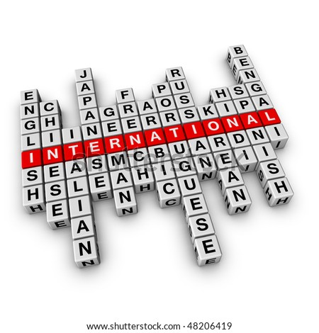 multilingual concept (from crossword series) - stock photo