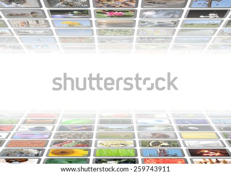 multimedia background - stock photo
