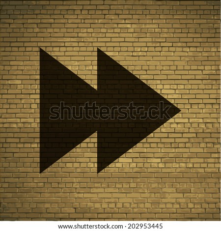 multimedia control icon flat design with abstract background. - stock photo