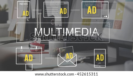 Multimedia Media Entertainment Communication Connection Concept
