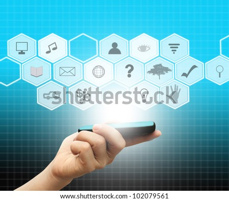 Multimedia phone - stock photo