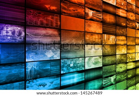 Multimedia Technology Background as a Art Concept - stock photo