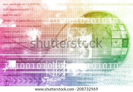 Multimedia Technology for Presentation as Abstract - stock photo