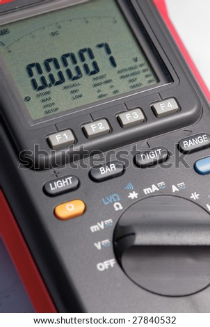 Multimeter close up shot