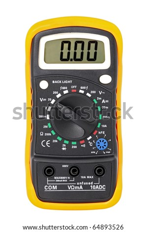 Multimeter for a measurement of voltage, a current, resistance. - stock photo