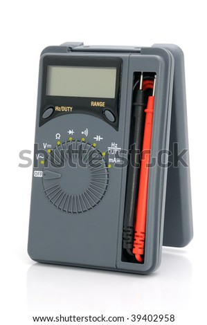 Multimeter for measurement of voltage, a current, resistance. - stock photo