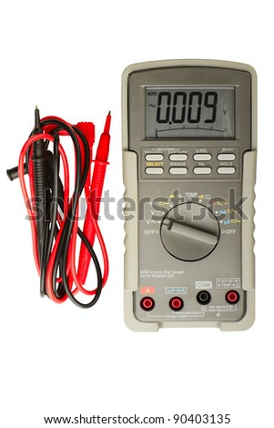 Multimeter isolated on a white background