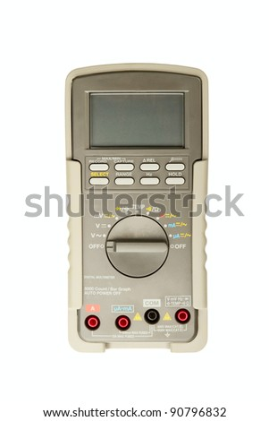 Multimeter isolated on a white background - stock photo