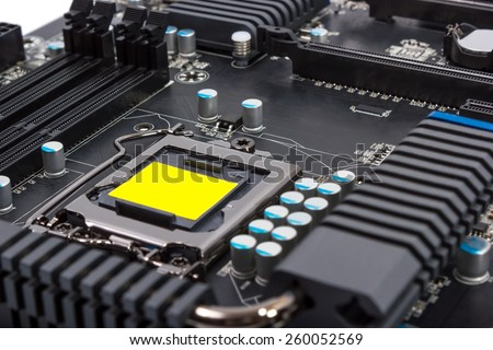 Multiphase power system modern processor with heatsink and the CPU socket
