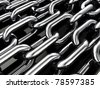 Multiple chains , 3d illustration - stock photo