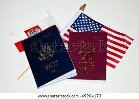 Multiple citizenship is a status in which a person is concurrently regarded as a citizen under the laws of more than one state. - stock photo
