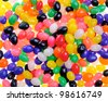 Multiple colored jelly bean background - stock photo