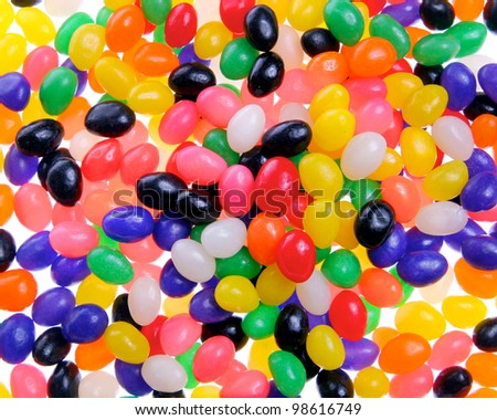 Multiple colored jelly bean background