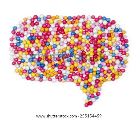 Multiple colorful ball candy sweets - stock photo