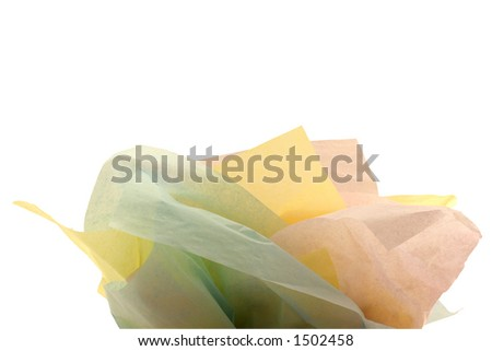 Multiple colors of tissue paper for a gift bag - stock photo