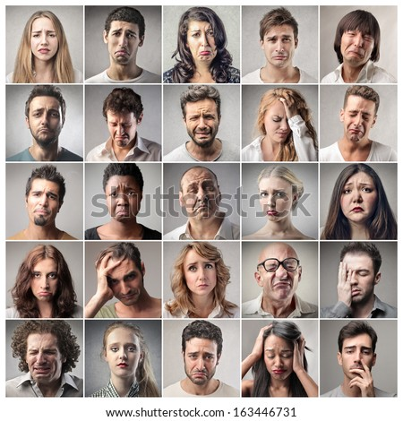 Multiple Expressions - stock photo
