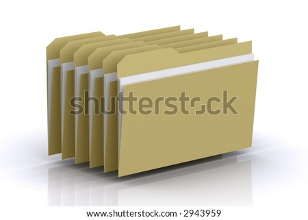 Multiple Folders - stock photo
