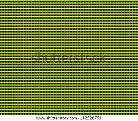 multiple green yellow 3d grid cloth like pattern backdrop - stock photo