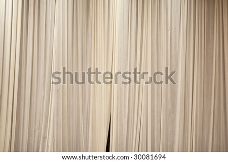 Multiple Layered Stage Theater Drape Curtain Background - stock photo