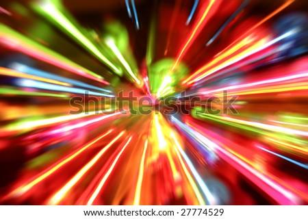 Multiple lights blur background - stock photo