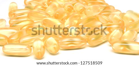 Multiple omega-3 capsules - stock photo