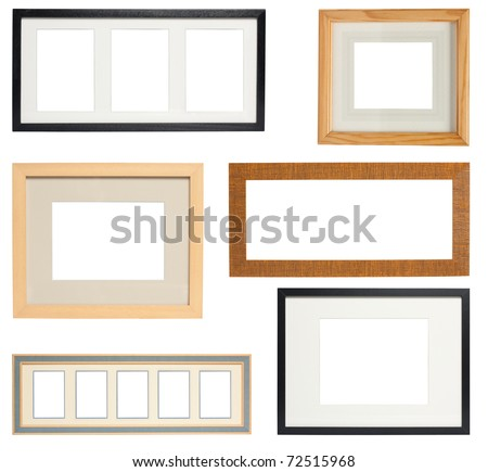 Multiple Picture frames to add your own photos - stock photo