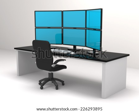 multiple screens - stock photo