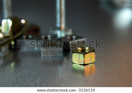 multiple screws - stock photo