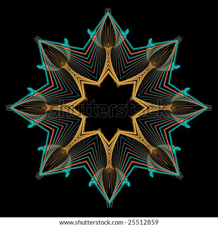 Multipoint Abstract Star Shape American Southwest Stock Illustration