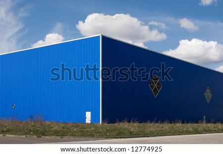 multipurpose industrial building - stock photo