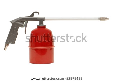 Multipurpose spray gun for painting, washing and blowing isolated over white background - stock photo