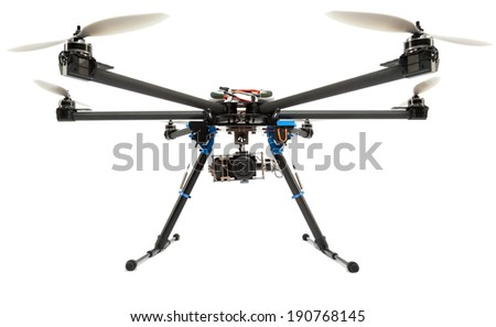 Multirotor system with camera at studio - stock photo