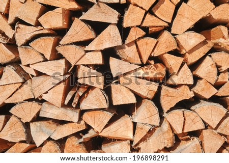 Multitude of wood pieces for background - stock photo