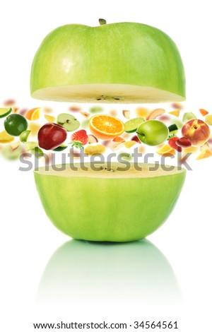 Multivitamin apple - stock photo