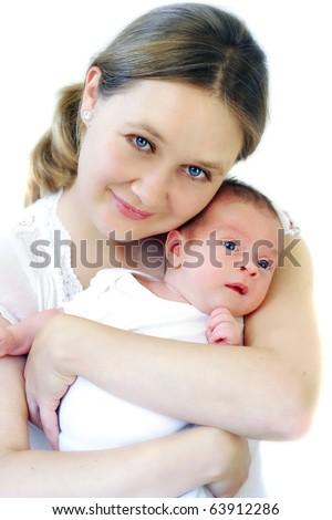 Mum and her baby - stock photo