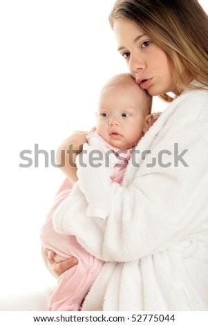 Mum with baby - stock photo
