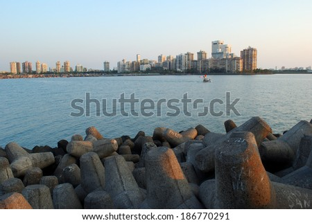 Mumbai City Sea Front - stock photo